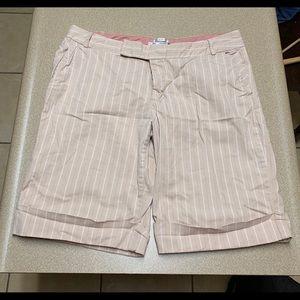 Tan and Pink Old Navy Bermuda Shorts Size 12
